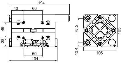 Размеры насоса Boxer ADB017