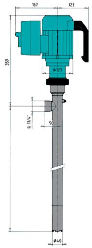Бочковые винтовые насосы Gruen Pumpen - схема