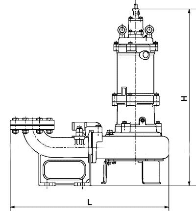 Канализационный насос Tsurumi BX - схема